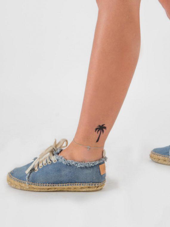 tatuaje de palmera tropical
