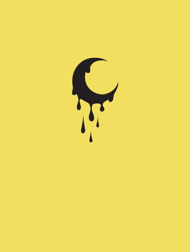 luna minimalista de sangre
