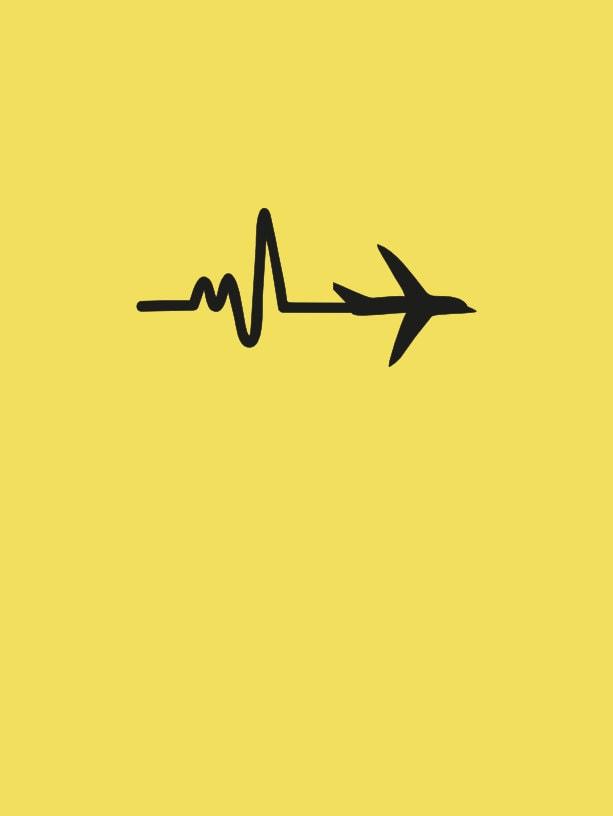 Tatuaje mezcla Avión viajar y linea de vida