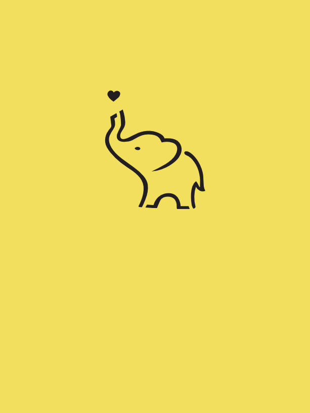 Tatuaje temporal elefante trompa y corazón