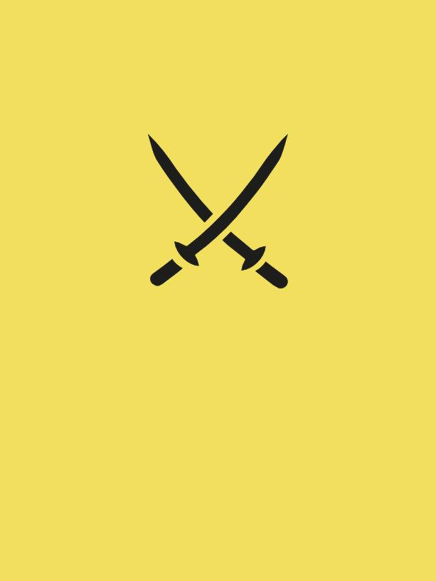 espadas katana cruzadas diseño tatu