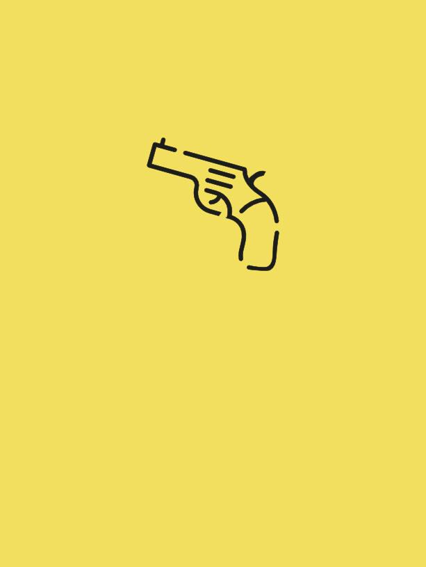 Tatuaje minimalista pistola