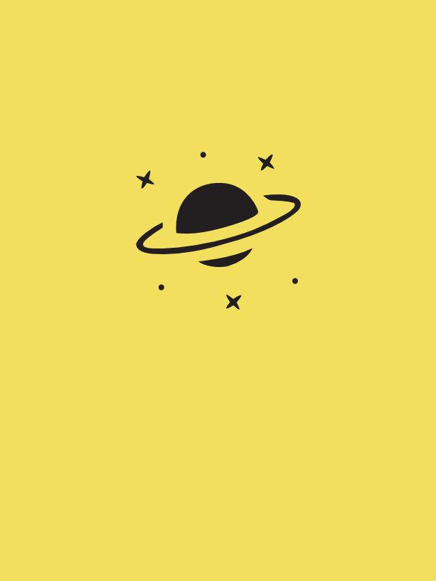 diseño tatuaje planeta y estrellas
